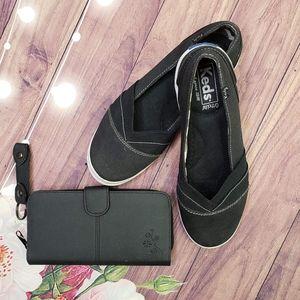 Keds Ortholite Black Slip-Ons